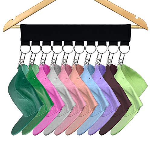YYST Cap Organizer Hanger, Hat Holder, Hat Organizer - Change Your Ordinary Hanger to Cap Organizer ()