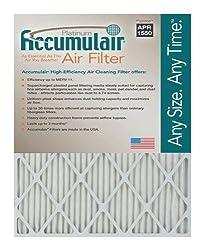 Accumulair Platinum 20x25x1 (19.75x24.75) MERV 11 Air Filter/Furnace Filters (6 pack)