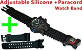 9½'' Length Outdoor Survival Watch, Hiking,Include Watch,Paracord,Fire Starter,Scraper,Whistle,Compass Claw 6 in 1 Multifunctional Outdoor Gear