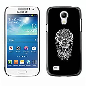 GIFT CHOICE / SmartPhone Carcasa Teléfono móvil Funda de protección Duro Caso Case para Samsung Galaxy S4 Mini i9190 /Tribal Pattern Dream Wolf Werewolf/