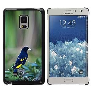 FlareStar Colour Printing Black Yellow Bird Feathers Tropical Green cáscara Funda Case Caso de plástico para Samsung Galaxy Mega 5.8 / i9150 / i9152