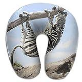 U Type Neck Pillow Travel Relax Cervical Pillows Zebra Climb Tree Print Pillow