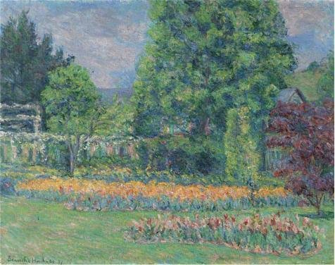 [Oil Painting 'Blanche Hochede Monet,The Gadren At Giverny,1927', 8 x 10 inch / 20 x 26 cm , on High Definition HD canvas prints is for Gifts And Bar, Dining Room And Nursery] (Costumes Halloween Yahoo)
