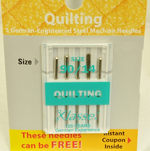 Klasse' Sewing Machine Quilting Needle Size 90/14, A5-10690 (Klasse Quilting Needles compare prices)