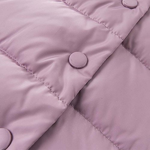 DAVE & BELLA Winter Baby Girls Down Jacket Children White Duck Down Padded Coat Kids Hooded Outerwear - Grey Pink (4T) by DAVE & BELLA (Image #5)