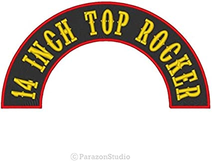 """Custom Embroidered 7/"""" Top Rocker Motorcycle Biker Name Tag Sew on Patc A"""