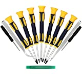 Kingsdun 12 in 1 Torx Screwdriver Sets with T3 T4 T5 T6 T7 T8 T10 Star Screwdrivers, Stainless Steel Tweezers & Philip Slotted Magnetic Screwdrivers for Phone/Mac/Computer Repairing