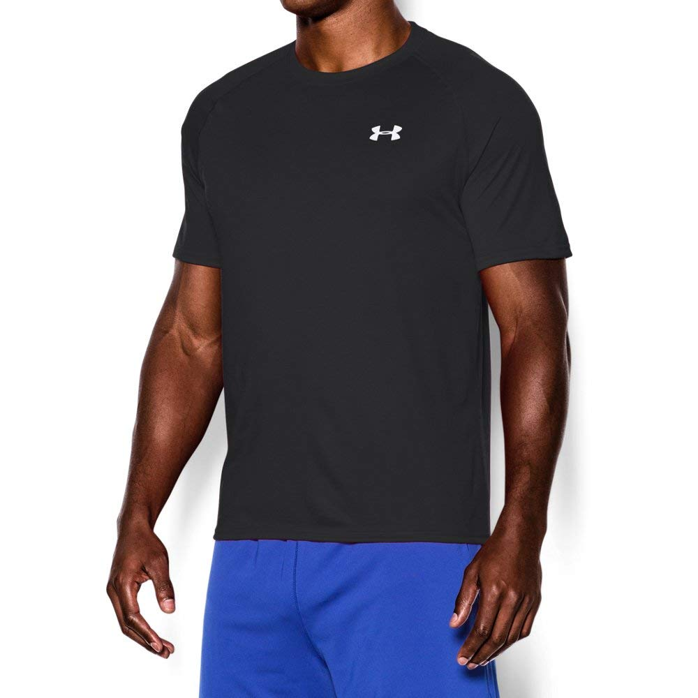 Under Armour Men's Tech Short Sleeve T-Shirt, Black /White, X-Large