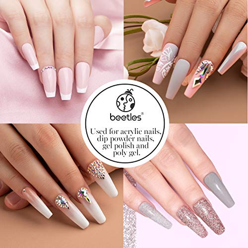Acrylic Nail Tips - Beetles Gel Polish Fake Nails Half Cover Clear French Artificial False Nails with Case for Acrylic Nail/Dip Powder Nails/Poly Nail Extension Gel Nail Art DIY Home