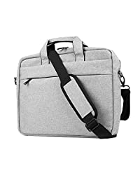 HAOCOO Laptop Bag 15.6inch,Waterproof Messenger Shoulder Bag Case,Hand Bag Multi-compartment Briefcase for 15.6inch HP Laptop / Macbook Pro / Air / Computer / Asus / Notebook / Lenovo / Ultrabook (15.6 inch, Gray)