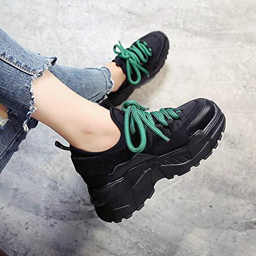 Valentino Tela San Subfamily Ginnastica Di Scarpe Moda hop Donna Nero Hip Colorblock Casual Piattaforma Stringate Da Sneakers ZSvZqwTB