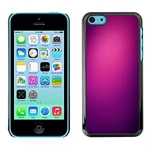Plastic Shell Protective Case Cover || Apple iPhone 5C || Black Color Clean Plum @XPTECH
