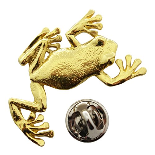 - Sarah's Treats & Treasures Climbing Tree Frog Pin ~ 24K Gold ~ Lapel Pin