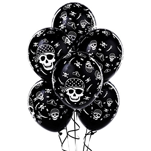 [Pirate Party Supplies - Skull and Crossbones Latex Balloons (6)] (Jack The Neverland Pirate Costumes)