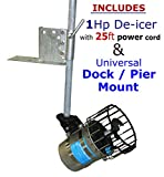 Kasco 1 Hp De-icer w/ 25ft Cord + Universal Dock / Pier Mount - Deicer for Water, Lake, Pond, Marina, Dock, Pier - Model# 4400d25