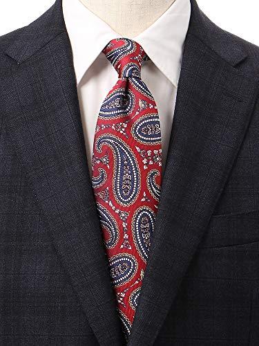 (ユニバーサルランゲージ) ペイズリー柄ネクタイ/Fabric by ITALY/レッド系の商品画像