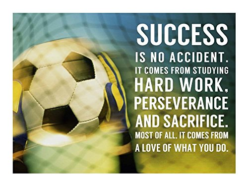 (Success Soccer Quote by Sports Mania Art Print, 16 x 12 inches)