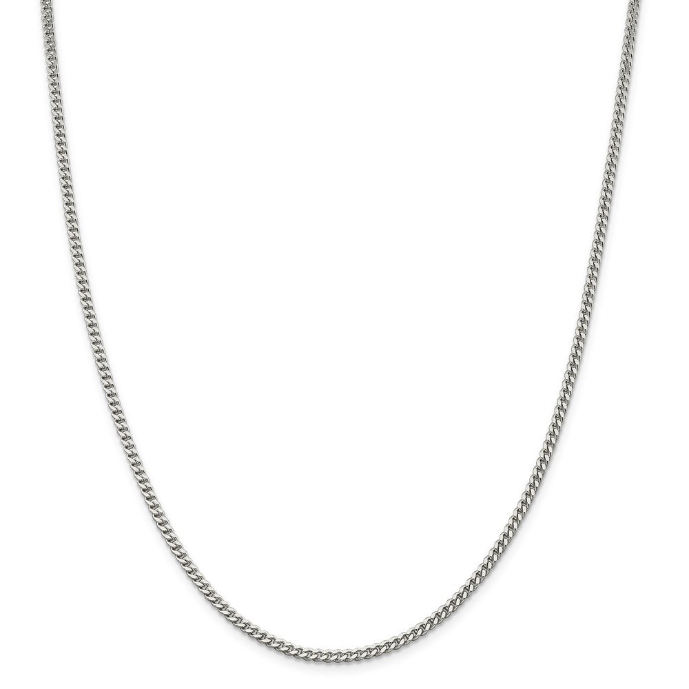925 Sterling Silver 3mm Curb Chain 20 Inch