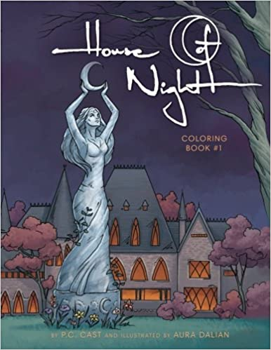 amazoncom house of night coloring book 1 9780615928302 pc cast aura dalian books - Amazon Coloring Books