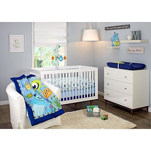 Disney Baby Monsters Inc 3 Piece Crib Bedding Set (Monsters Inc Fitted Crib Sheet compare prices)