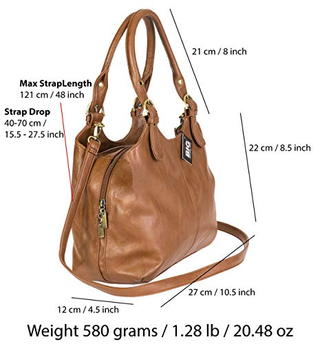 Mano Handbag Marrone plain Big S105 Khaki Donna Borsa A Shop 8Inqd0