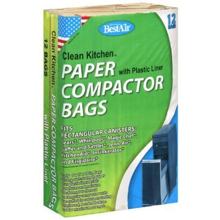 [Bestair Clean Kitchen Paper Compactor Bag with Plastic Liners, 12 count] (Bag Of Trash Costume)