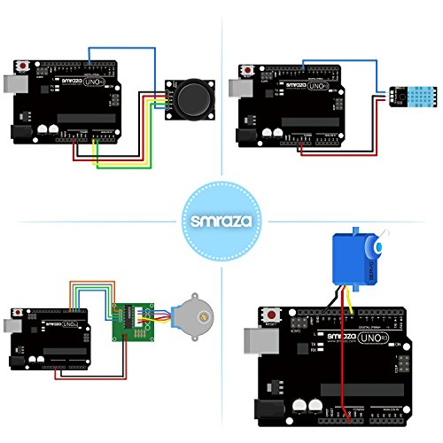 Smraza UNO R3 Starter Kit for Arduino with Tutorials and 9V 1A Power Supply Compatible with Arduino UNO R3 Mega2560 Nano (40 Projects) by Smraza (Image #4)