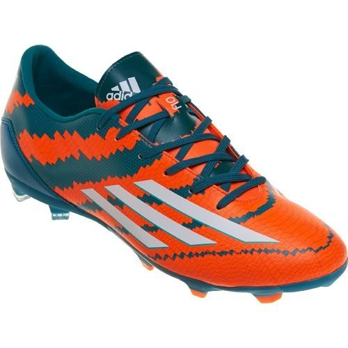 4c5260016 Adidas Messi 10.1 FG Soccer Football Shoes - Power Teal White Solar Orange