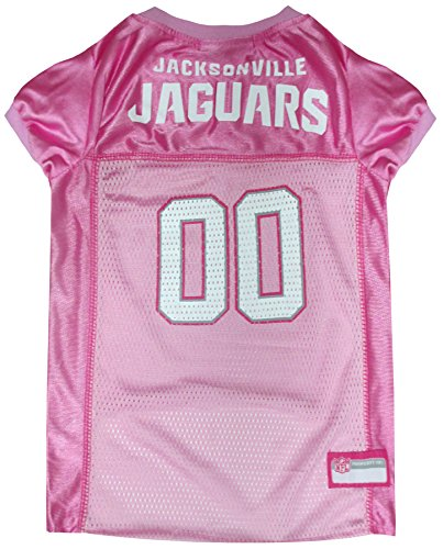 (NFL Jacksonville Jaguars Dog Jersey Pink, X-Small. - Football Pet Jersey in Pink)