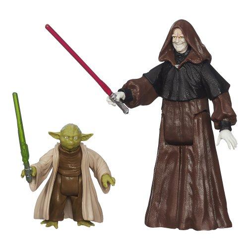 Star Wars, Mission Series: Senate Duel, Darth Sidious and Yoda, Action Figures (Yoda Vs Darth Sidious Lightsaber)