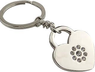 SODIAL Porte-cles incruste de Strass de Forme de Coeur de Mode Chaine a CLE Porte-CLE de Voiture de Sac de Portefeuille