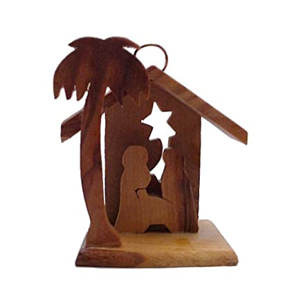 wholesale christian gifts small olive wood home decorative manger christmas ornaments - Wooden Christmas Decorations Wholesale