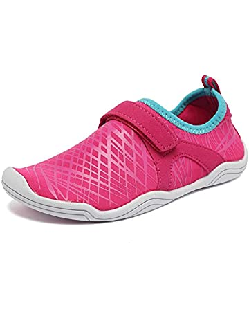 0214f51aff6e Fantiny Boys   Girls Water Shoes Lightweight Comfort Sole Easy Walking  Athletic Slip on Aqua Sock