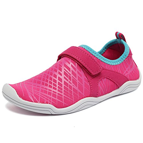 Fantiny Boys & Girls Water Shoes Lightweight Comfort Sole Easy Walking Athletic Slip on Aqua Sock(Toddler/Little Kid/Big Kid) DKSX-Pink-33 by CIOR (Image #1)