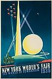 New York World's Fair 1939 - The World of Tomorrow Vintage Poster (artist: Binder) USA c. 1939 (12x18 Premium Acrylic Puzzle, 130 Pieces)