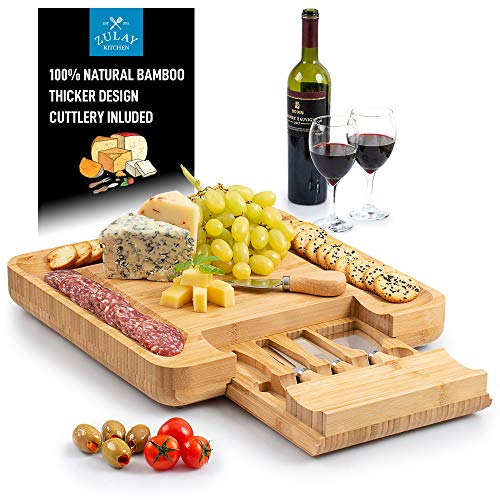 Zulay Premium Bamboo Cheese Board product image