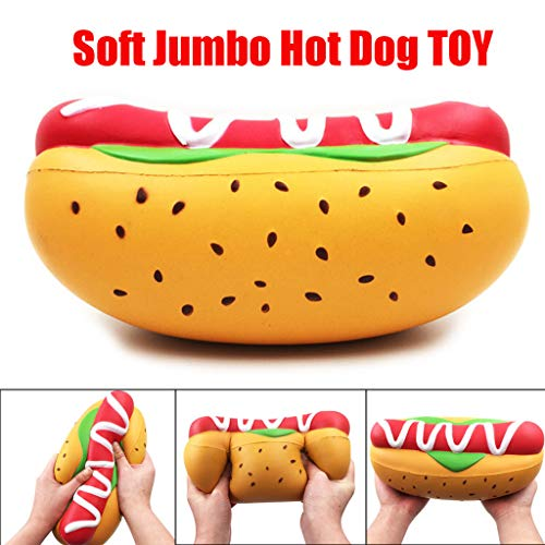 Onegirl Large Decompression Toys, Squishies Kawaii Jumbo Hot Dog Slow Rising Toy Squeeze Scented Toys for Kids Relief Stress Toy Gifts Applicable Age 6+ -