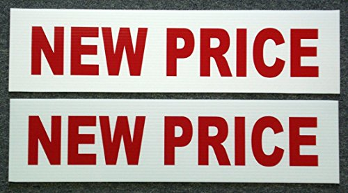 2Pc Worthy Popular New Price Signs Riders Outdoor Board Store Message Shop Declare Size 6