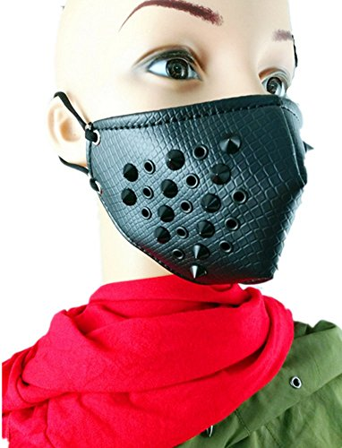 Shu li Men's and women's new influx of rock mask spikes personality motorcycle mask by Shu li