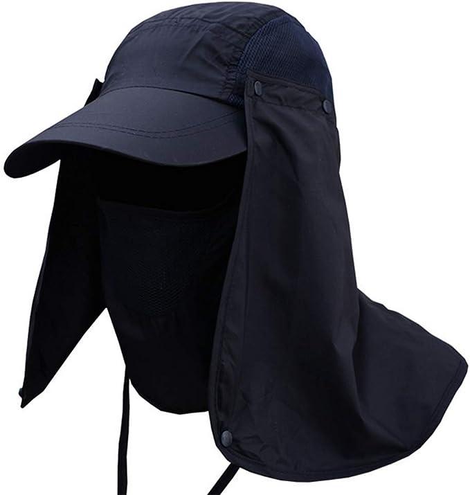 Leisial Sombrero Pesca del Sol Gorra al Aire Libre de Protección ...
