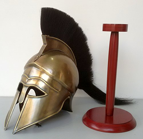 Medieval The Halloween Costume Armor Roman Greek Antique Finish Corinthian Helmet With Stand (Medieval Halloween Costumes)