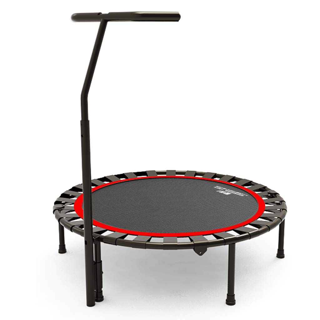 LKFSNGB Fitness Trampoline - with Adjustable Handles, Portable Collapsible Sports Trampoline, Suitable for Indoor and Outdoor Garden Trampolines by LKFSNGB