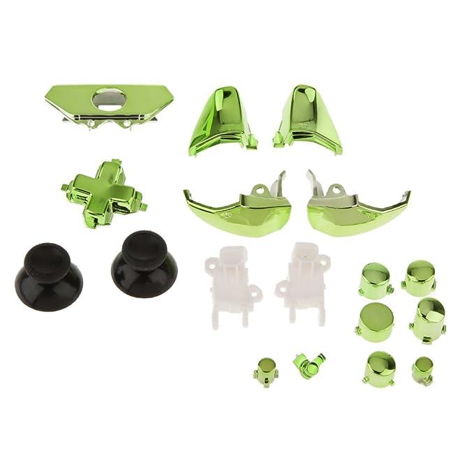 Ensemble de 18 Remplacement Boutons du Contrôleur Kit pour Xbox One - Vert