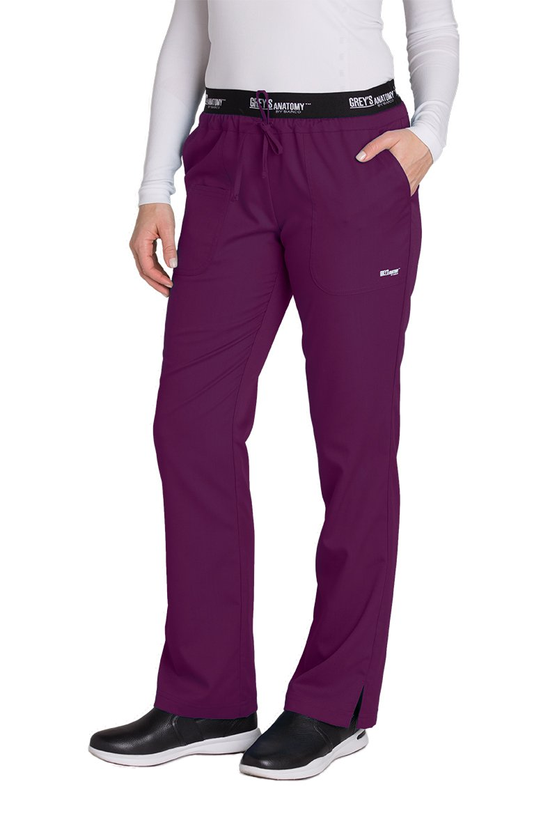 Grey's Anatomy Active 4275 Drawstring Scrub Pant Currant L Petite