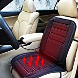 heated back seat covers for cars - Car Heated Seat Cushion,12V Seat Hot Heater Heated Pad- Constant Temperature Protection function - Relieving Back and Leg Pressure Cushion Winter Warmer Cover Black