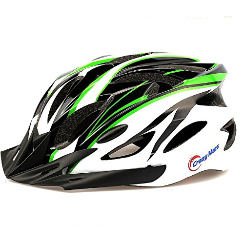 Crazy Mars Ultralight Stable Road/Mountain Mens/Womens Bike Helmet-green+black+white (Fox Womens Body Rock)
