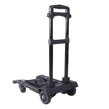 Carritos de la compra Remolque doméstico Carrito Plegable portátil Puede soportar 40 kg (Color : Black, Size : 42 * 30 * 100cm): Amazon.es: Hogar
