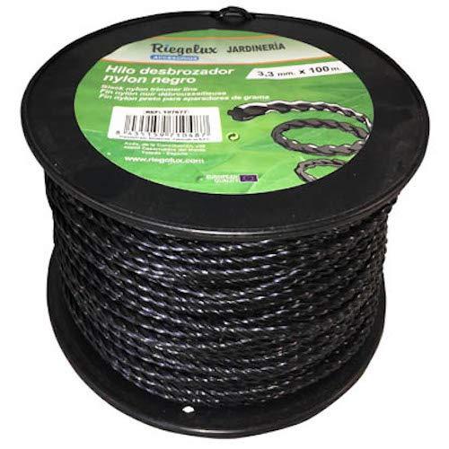 Riegolux 107678 Hilo Desbrozadora Nylon Helicoidal, Negro, 4 mm ...