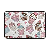 Top Carpenter Decorative Cupcakes Area Rug Pad - 23.6x15.7 inch - 100% Light Weight Polyester Fabric for Living - Bedroom