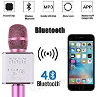 SKYSE Wireless Bluetooth Microphone Recording Condenser Handheld Microphone with Bluetooth Micgeek Q9 Speaker For All Android and iOS Devices (Colour May Vary-1pic)